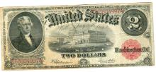 1917 $2 Legal Tender Bank Note Currency