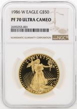 1986-W NGC PF70 Ultra Cameo $50 Eagle Gold Coin