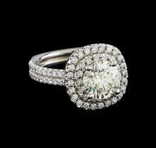 EGL Cert 3.54 ctw Diamond Ring - 14KT White Gold