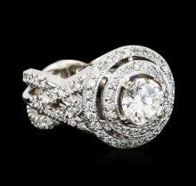 14KT White Gold GIA Certified 3.01 ctw Diamond Ring