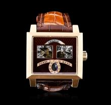 Pierre Kunz 18KT Rose Gold Retrograde Watch