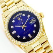 Rolex 18KT Gold President 1.00 ctw Diamond Men's Watch