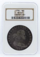 1799 NGC XF40 Draped Bust Silver Dollar