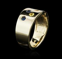 14KT Yellow Gold 0.60 ctw Sapphire Ring