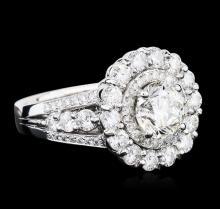 14KT White Gold EGL Certified 3.65 ctw Diamond Ring