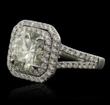 14KT White Gold 3.99 ctw Diamond Ring