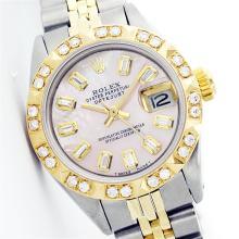 Rolex Two-Tone Diamond Ladies Watch