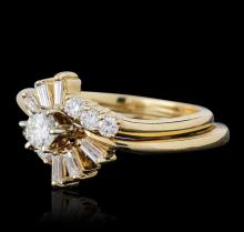 14KT Yellow Gold 0.69 ctw Diamond Wedding Set