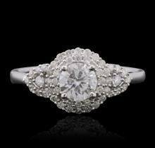14KT White Gold 0.82 ctw Diamond Ring