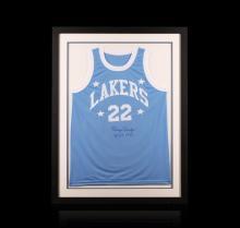 Elgin Baylor Framed Autographed Jersey