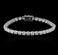 14KT White Gold 6.72 ctw Diamond Tennis Bracelet