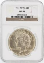 1921 NGC MS62 Peace Silver Dollar