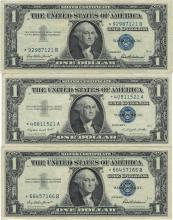 1957 $1 Star Note Silver Certificate Currency Lot of 10