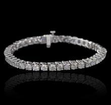 14KT White Gold 9.31 ctw Diamond Tennis Bracelet