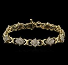 2.00 ctw Diamond Bracelet - 10KT Yellow Gold