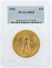 1926 PCGS Graded MS65 $20 St. Gaudens Double Eagle Gold Coin