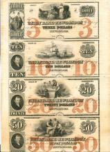 New-London Connecticut Union Bank Uncut Notes