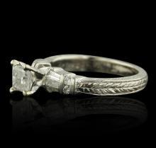 Platinum 1.01 ctw Diamond Ring
