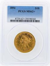 1894 PCGS MS62+ $10 Liberty Head Eagle Gold Coin