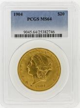 1904 PCGS MS64 $20 Liberty Head Double Eagle Gold Coin