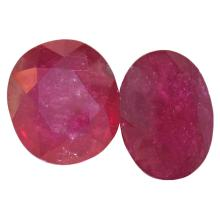 19.30 ctw Oval Mixed Ruby Parcel