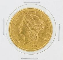 1904-S $20 CU Liberty Head Double Eagle Gold Coin