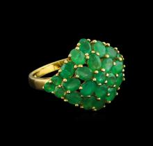 3.68 ctw Emerald Ring - 14KT Yellow Gold