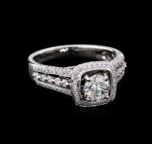 1.66 ctw Diamond Ring - 18KT White Gold