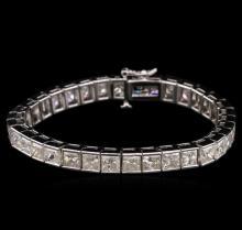 26.35 ctw Diamond Tennis Bracelet - 14KT White Gold