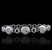14KT White Gold 0.49 ctw Diamond Bracelet