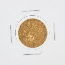 1915 $5 XF Indian Head Half Eagle Gold Coin