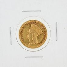 1854 $3 XF Gold Coin