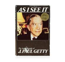 Signed Copy of As I See It: The Autobiography of J. Paul Getty by J. Paul Getty