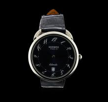 Hermes Stainless Steel Arceau TGM Watch