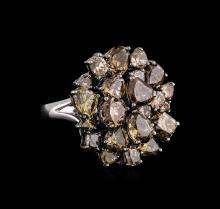 9.16 ctw Fancy Brown Diamond Ring - 18KT White Gold