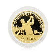 2011 Australia $25 Presidents Cup Gold Coin