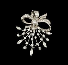 3.07 ctw Diamond Pin - Platinum