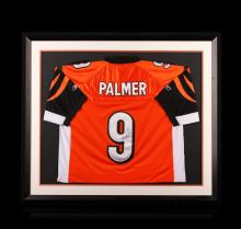 Carson Palmer Framed Autographed Jersey