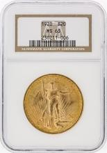 1920 NGC MS63 $20 St. Gaudens Double Eagle Gold Coin