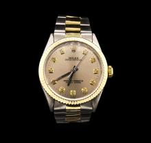 Rolex Two-Tone Oyster Perpetual Mens Watch