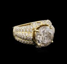 6.66 ctw Light Brown Diamond Ring - 14KT Yellow Gold