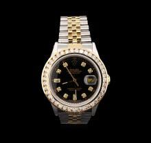 Rolex 14KT Two-Tone 2.50 ctw Diamond DateJust Men's Watch