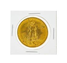 1908 $20 BU No Motto St. Gaudens Double Eagle Gold Coin