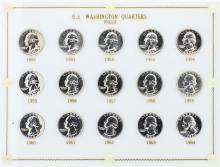 1950-1964 U.S. Washington Quarter Proof Set