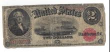 1917 $2 United States Legal Tender Bank Note
