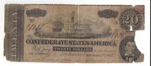1864 $20 Confederate States of America Bank Note