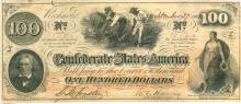 $100 Confederate States of America Richmond Large Note