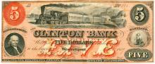 Westernport Maryland The Clinton Bank $5 Note