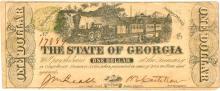 $1 Confederate State of Georgia