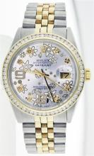 Rolex Two-Tone 1.30 ctw Diamond DateJust Men's Watch